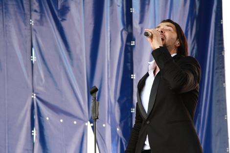 Выступление известного российского исполнителя, участника группы