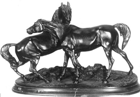 Скульптурная  композиция  «Лошади на воле».  Автор П.К. Клодт