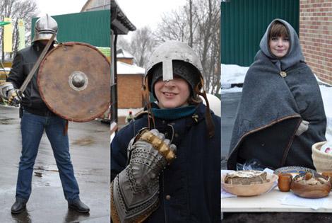 Масленица в КСК Левадия, народные традиции, катания на лошадях
