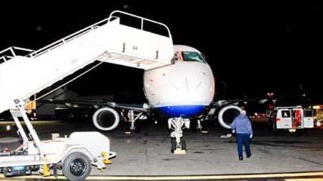 столкновение самолета со стаей гусей