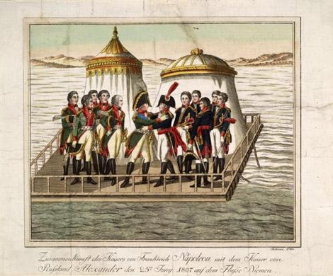 Встреча Наполеона I с Александром I. 1807. Отто Johann.