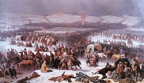 Переход войск Наполеона через Березину.1866. Януар Суходольский