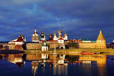 Вид Соловецкого монастыря