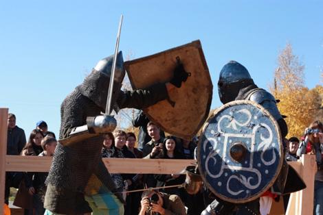 Первый фестиваль исторического фехтования» в Златоусте