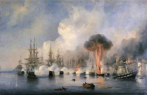 Андрей Боголюбов. Синопское сражение. 18 ноября 1853 г.
