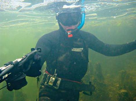 подводная охота весной на Ангаре