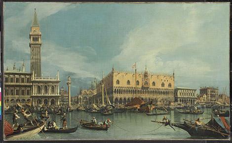 «Мол, Венеция, вид с площади Сан-Марко» . Джованни Антонио Каналетто.