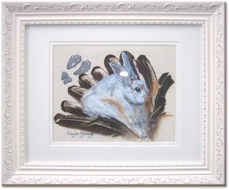 Рисунки животных на перьях