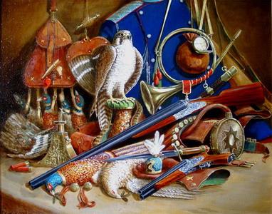 Геннадий Хилько, Соколиная охота. Натюрморт с фазанами