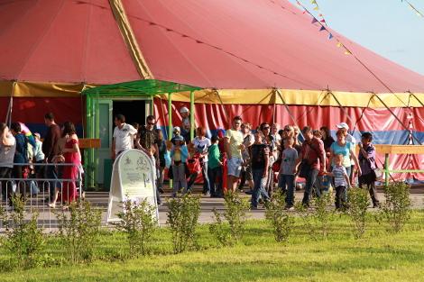 Зрители увлеченно обсуждали прошедшее выступление, организованное профессиональными цирковыми артистами