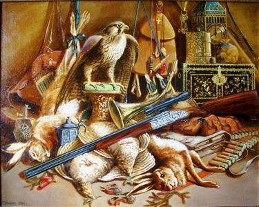 Геннадий Хилько, Соколиная охота. Натюрморт с зайцами