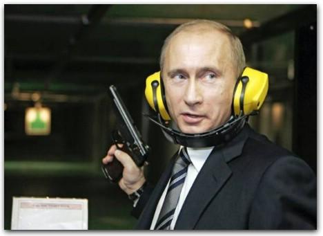 Владимир путин с пистолетом, путин в тире