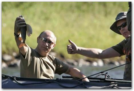 Путин на рыбалке, путин и принц Альберт