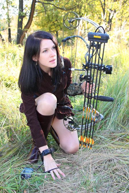 Охота с луком, охотничьи луки, охота с луком в подмосковье, охотничьи луки BEAR, лазерный дальномер - фото Андрей Шалыгин