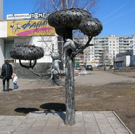 Памятник котенку с улицы Лизюкова. Воронеж