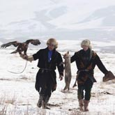 Охота с беркутами и соколами в Казахстане