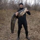 Большая подводная охота на малой реке