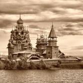 Регата исторических лодок в Кижах