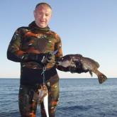 Особенности подводной охоты на горбыля, засада в мутном Днепре, и охота с выдрами