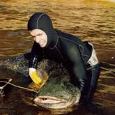 Подводная охота: взятие сома