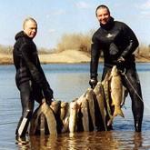 Подводная охота в паре