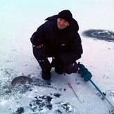 Зимняя рыбалка на платном пруду в Подмосковье