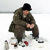 Зимняя рыбалка на озере Новосёлки