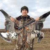 Охота на гуся в украинских полях
