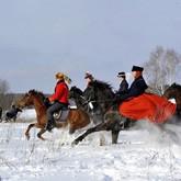 В калужских лесах прошла конно-псовая охота XIX века