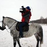 Телекомпания ТВЦ-Тула сняла сюжет о лошадях на базе Барсучок