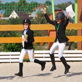 В КСК Левадия прошел детский турнир по выездке на пони для начинающих