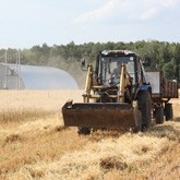 На сельскохозяйственных землях Национального Фонда Святого Трифона завершился сбор зерновых культур