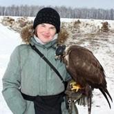 Всероссийские состязания ловчих птиц по голубю прошли в «Барсучке»