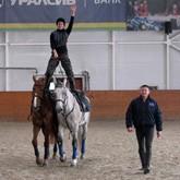 Казаки прошли обучение в Кремлевской школе верховой езды