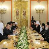 В Кремле прошла встреча Владимира Путина с представителями поместных православных церквей