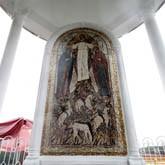 В НКП «РУСЬ» прошло освящение ротонды Святых Флора и Лавра