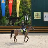 В КСК Левадия состоялись соревнования по выездке для спортсменов пони-клуба