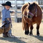 Самый маленький ковбой и самая длинногривая лошадь